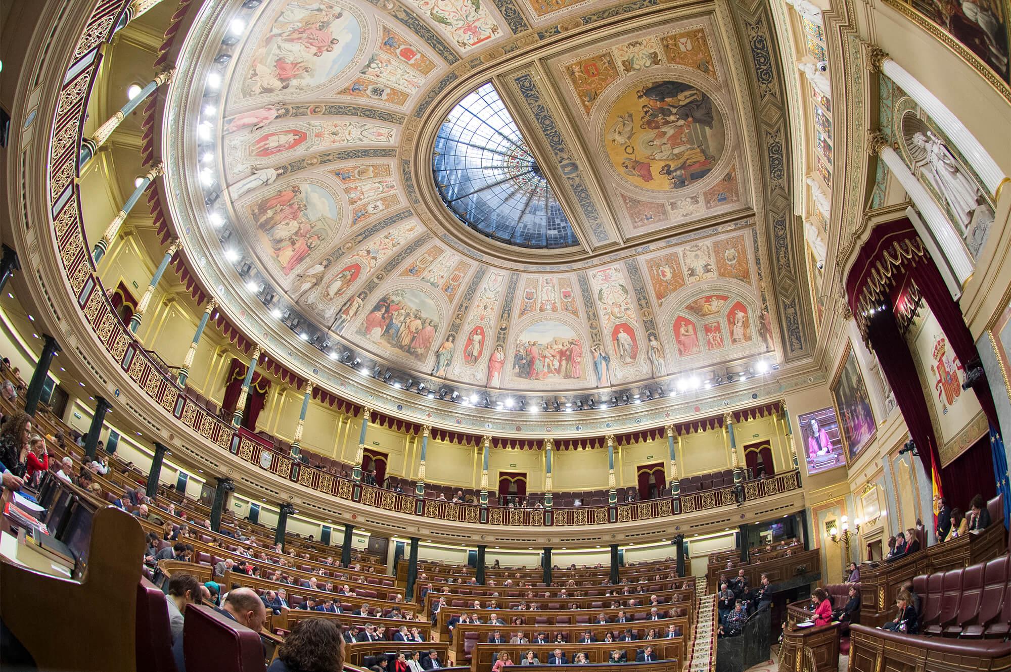 La ministra de Hacienda, María Jesús Montero, interviene en el hemiciclo del Congreso para presentar el Proyecto de Ley de Presupuestos Generales del Estado para el año 2019. Congreso de los Diputados, Madrid - 12/02/19.