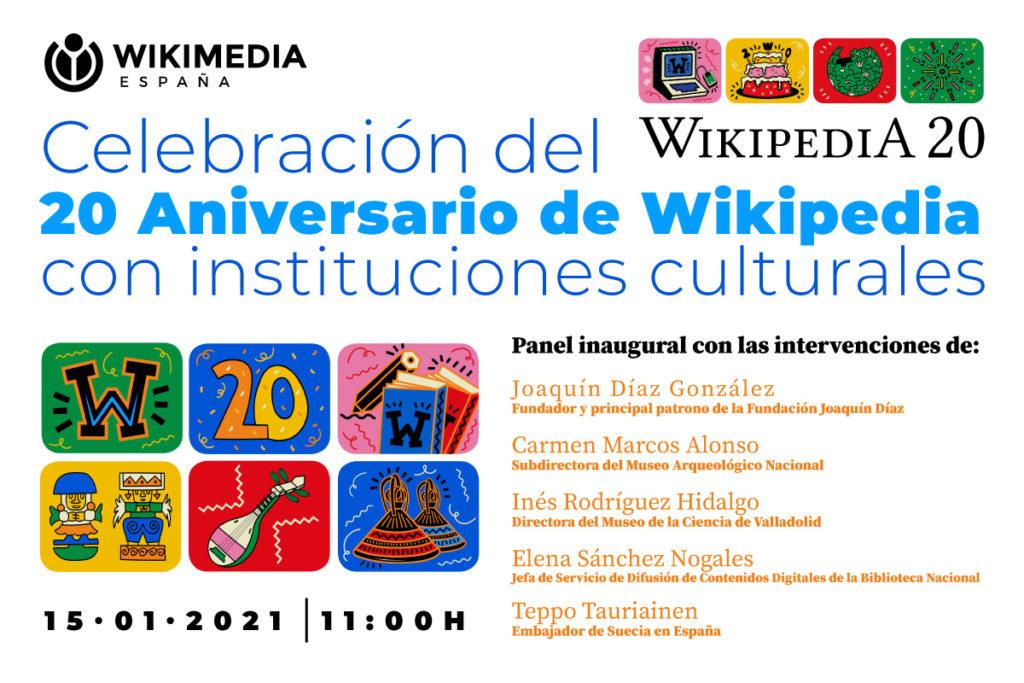 Celebración del 20 aniversario de Wikipedia con instituciones culturales