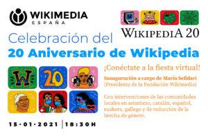 Celebración del 20 aniversario de Wikipedia con la comunidad